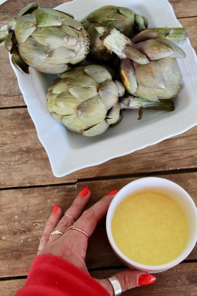 how to make lemon butter for artichokes