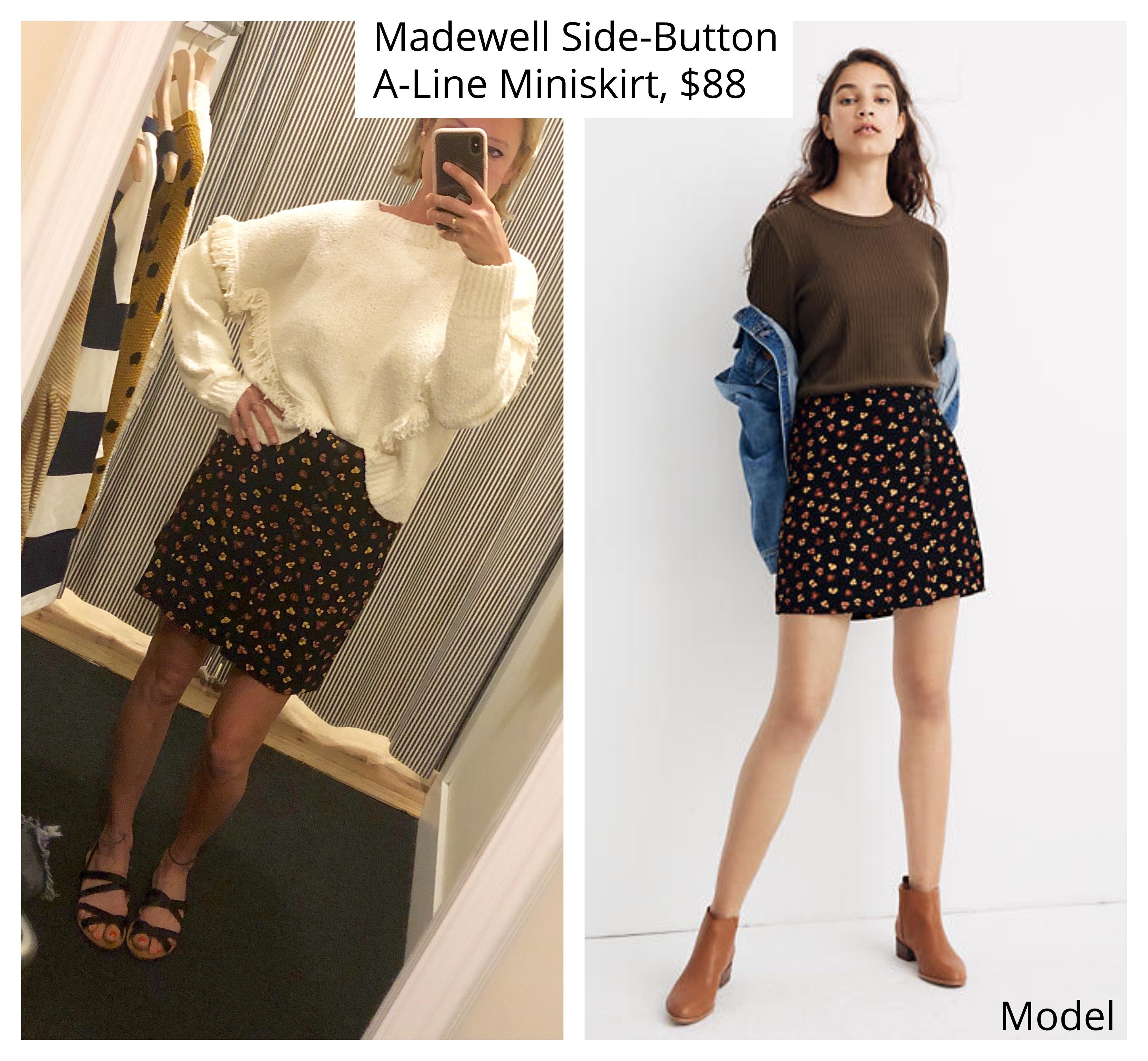 madewell floral print miniskirt