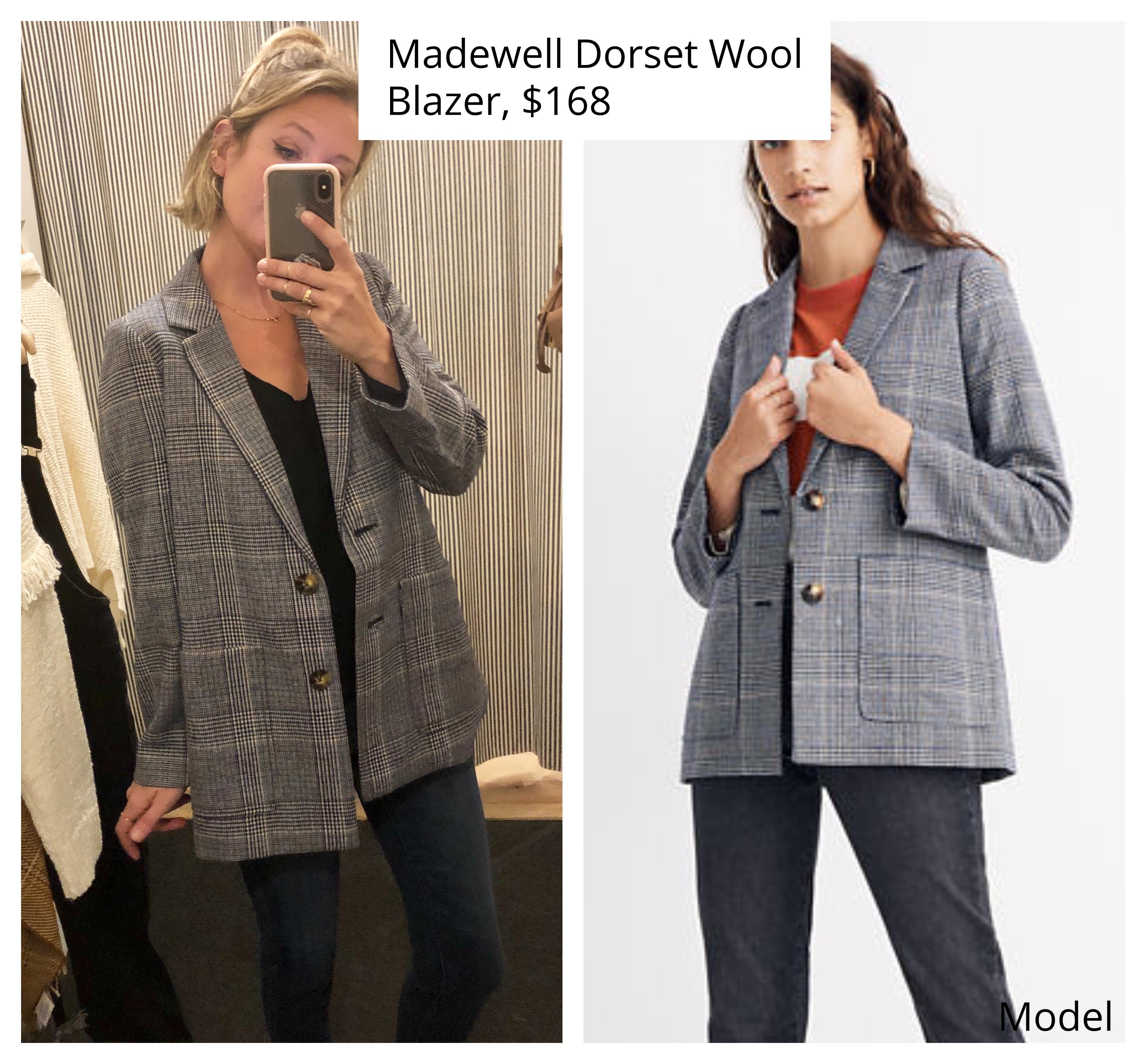 madewell dorset wool plaid blazer