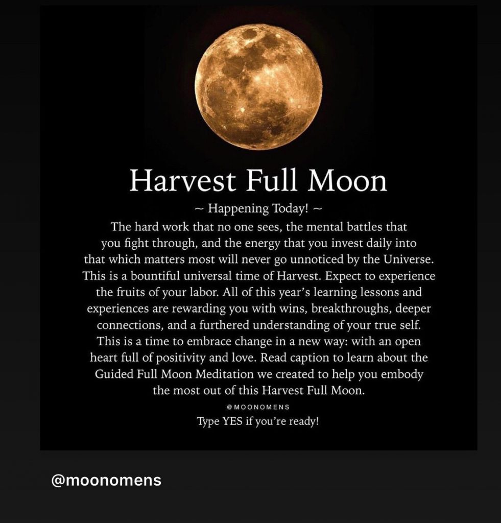 meaning of a harvest moon