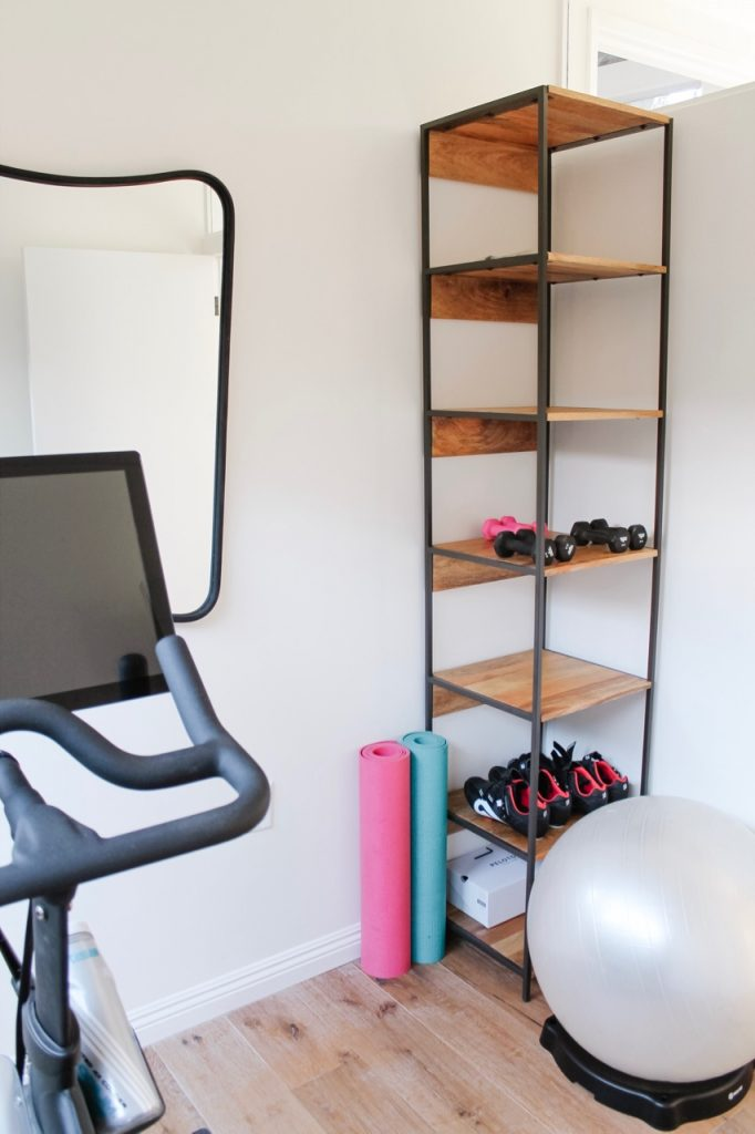 home gym remodel, before and after
