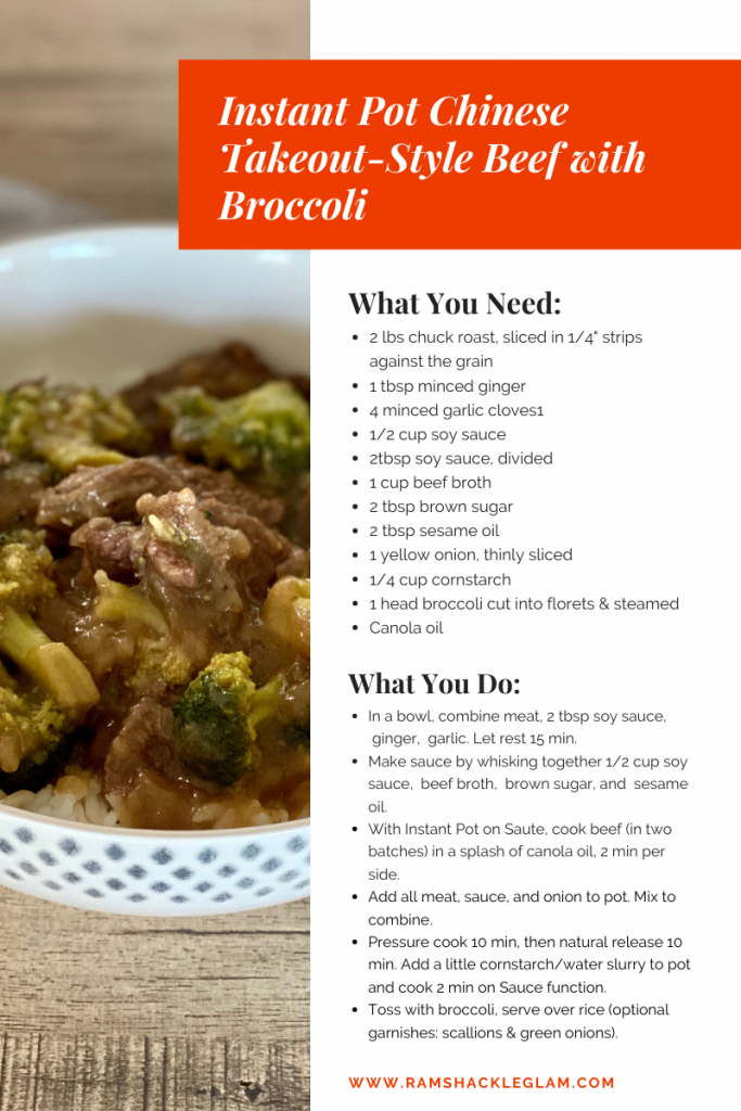 instant pot Chinese Takeout-Style Beef with Broccoli recipe