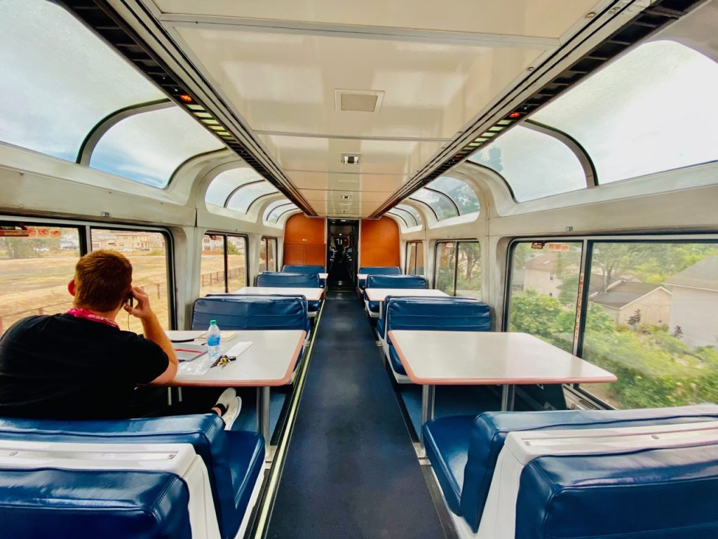 what it's like to travel in an amtrak sleeper car