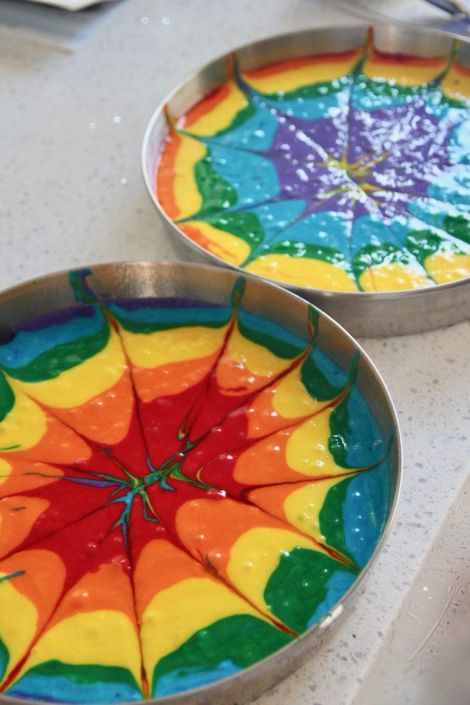 how to make a tie dye rainbow cake