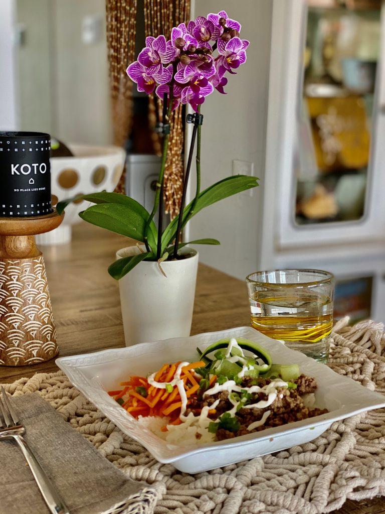 beef bulgogi and vegetable bowls