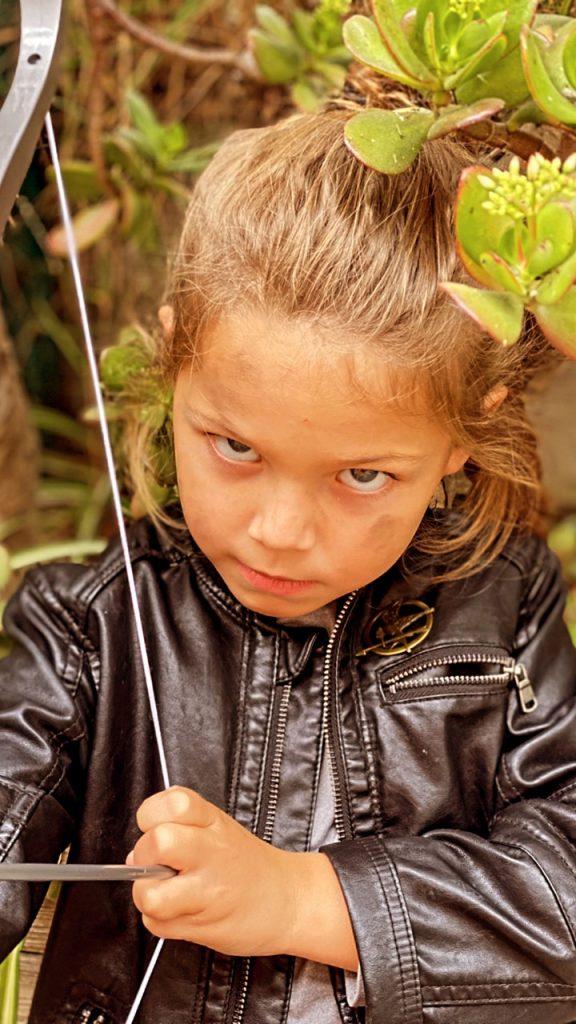 diy Katniss Everdeen costume for little girl from hunger games