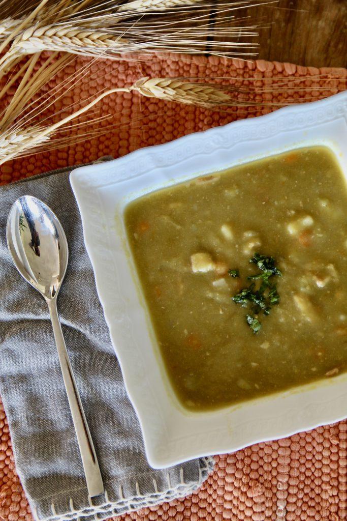 instant pot split pea and potato soup