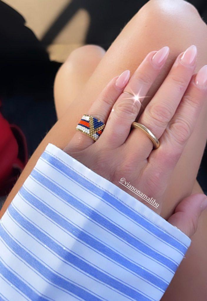 via nona beaded ring